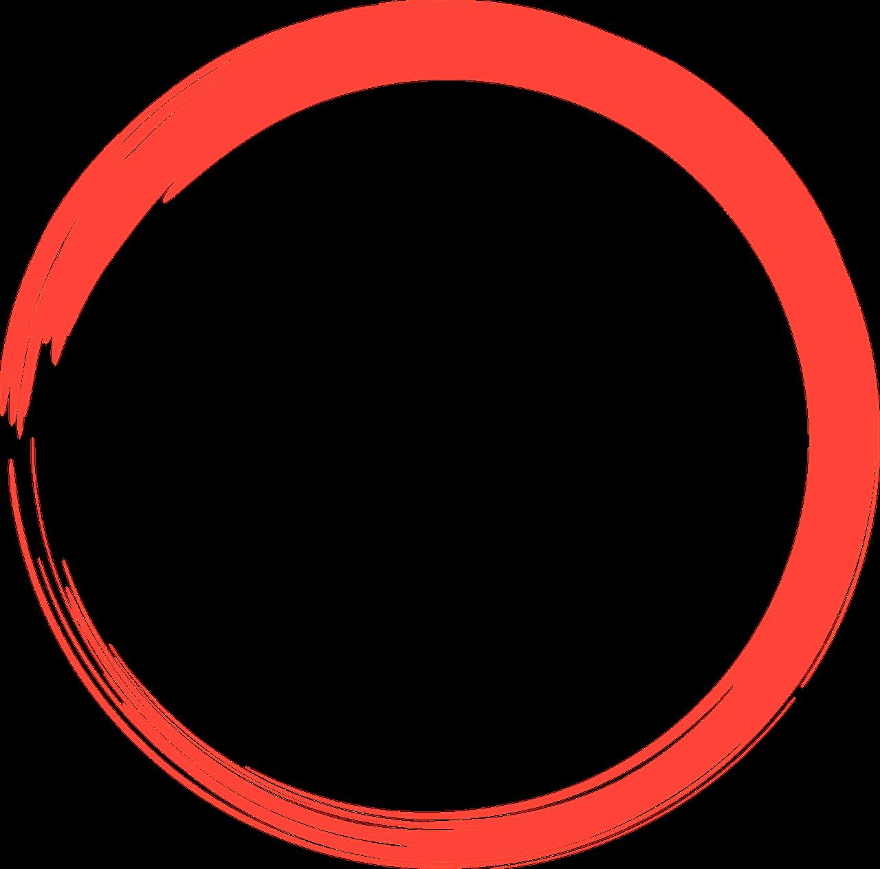red, circle, logo